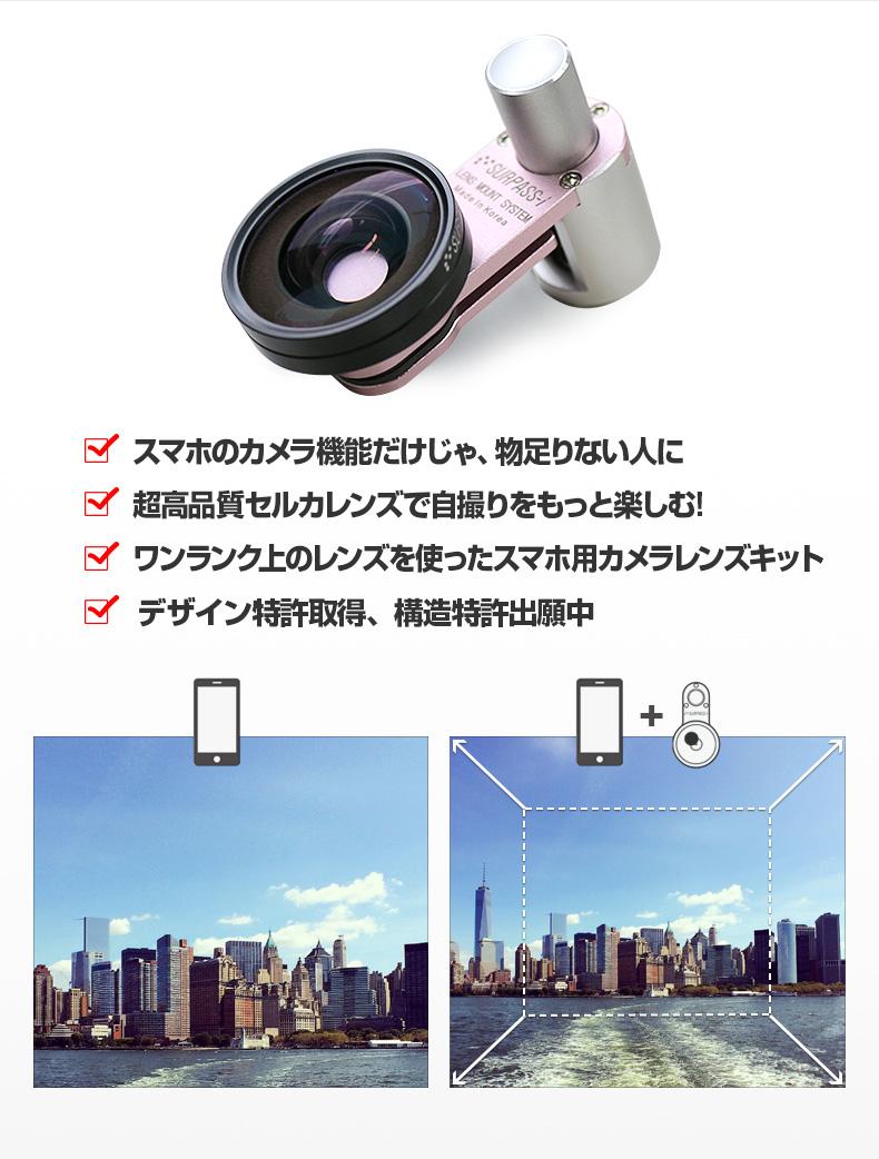 商品詳細-セルカレンズマウント SURPASS-i 広角レンズセット