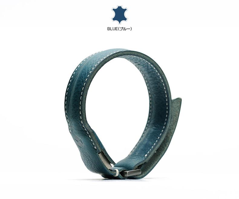 SLG Design Minerva Box Leather Bracelet Cableブルー