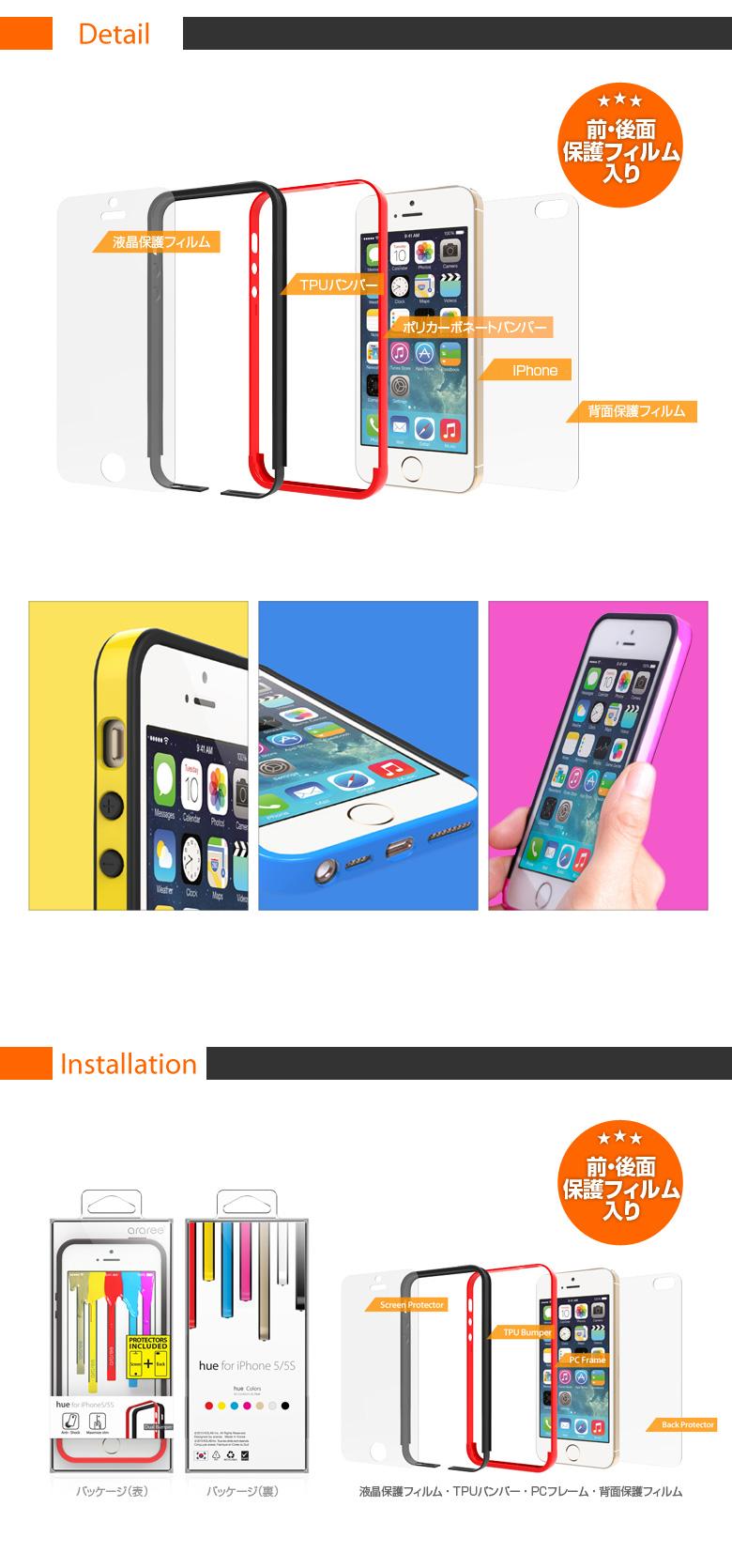 商品詳細iPhone5/5s ケースHue Bumper (ヒューバンパー )