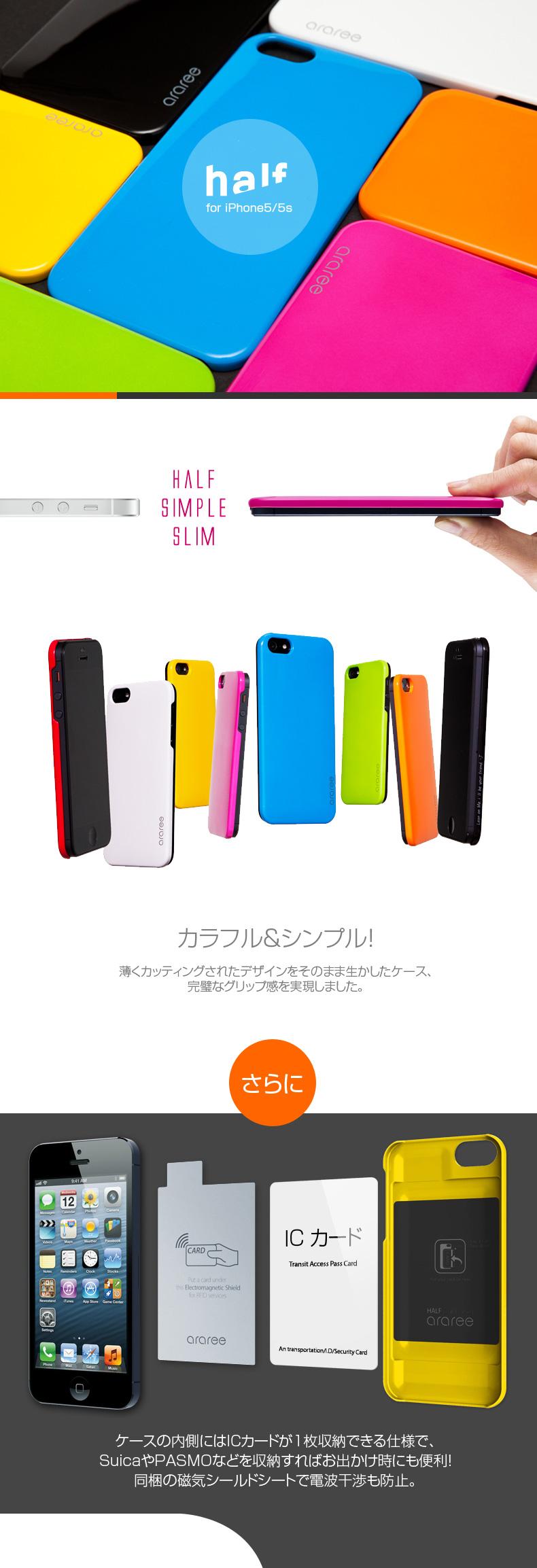 商品特徴 iPhone5/5s ケースHalf  (ハーフ)