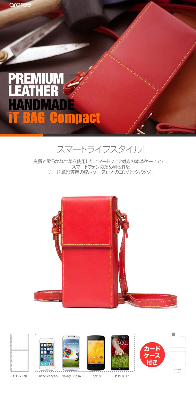商品特徴 iPhone5/5s ケースiT-BAG Compact(アイティーバッグ コンパクト)※対応機種:iPhone5/5s, Galaxy S3/S4, nexus, Opimus G2