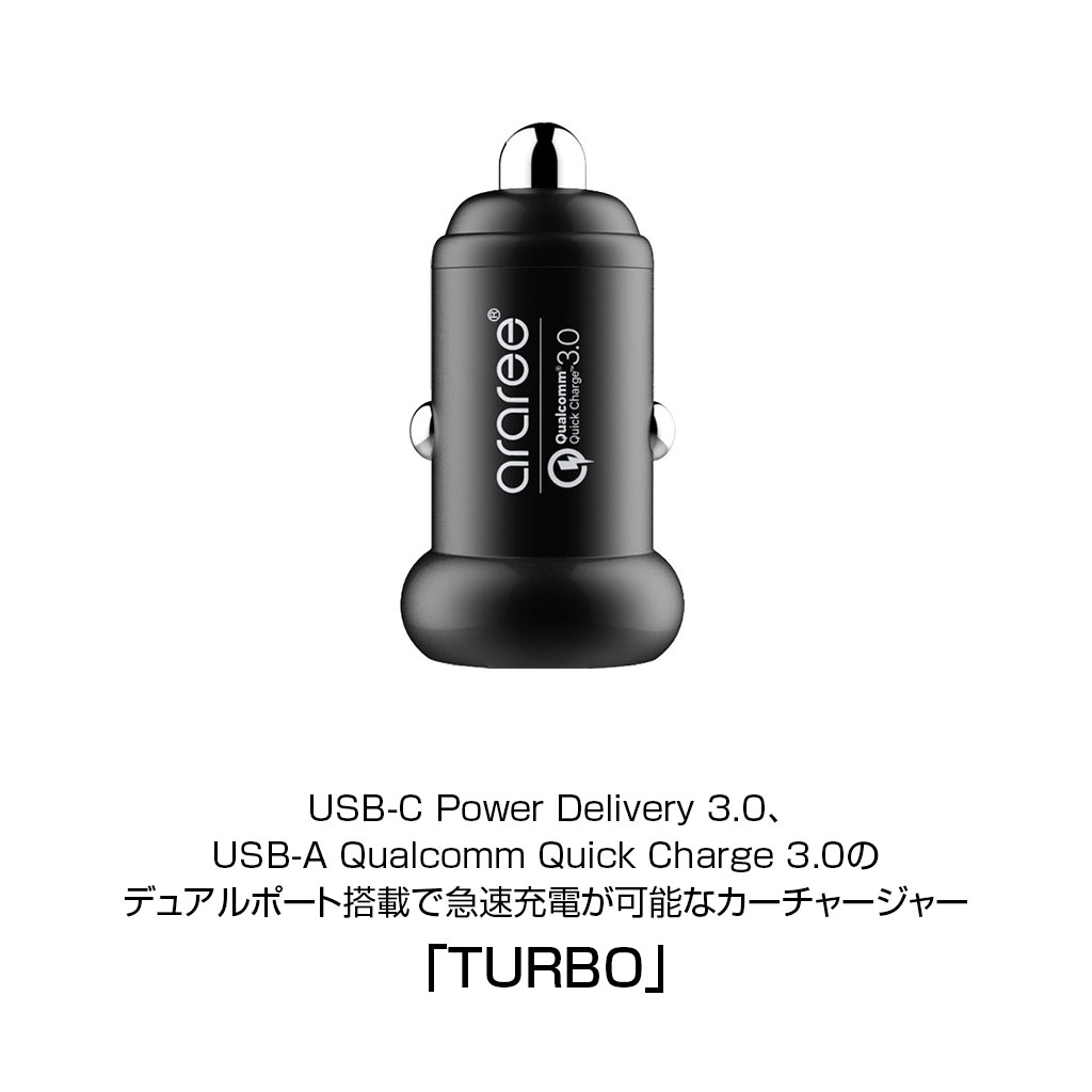 デュアルポート(USB-C Power Delivery 3.0、USB-A Qualcomm Quick Charge 3.0