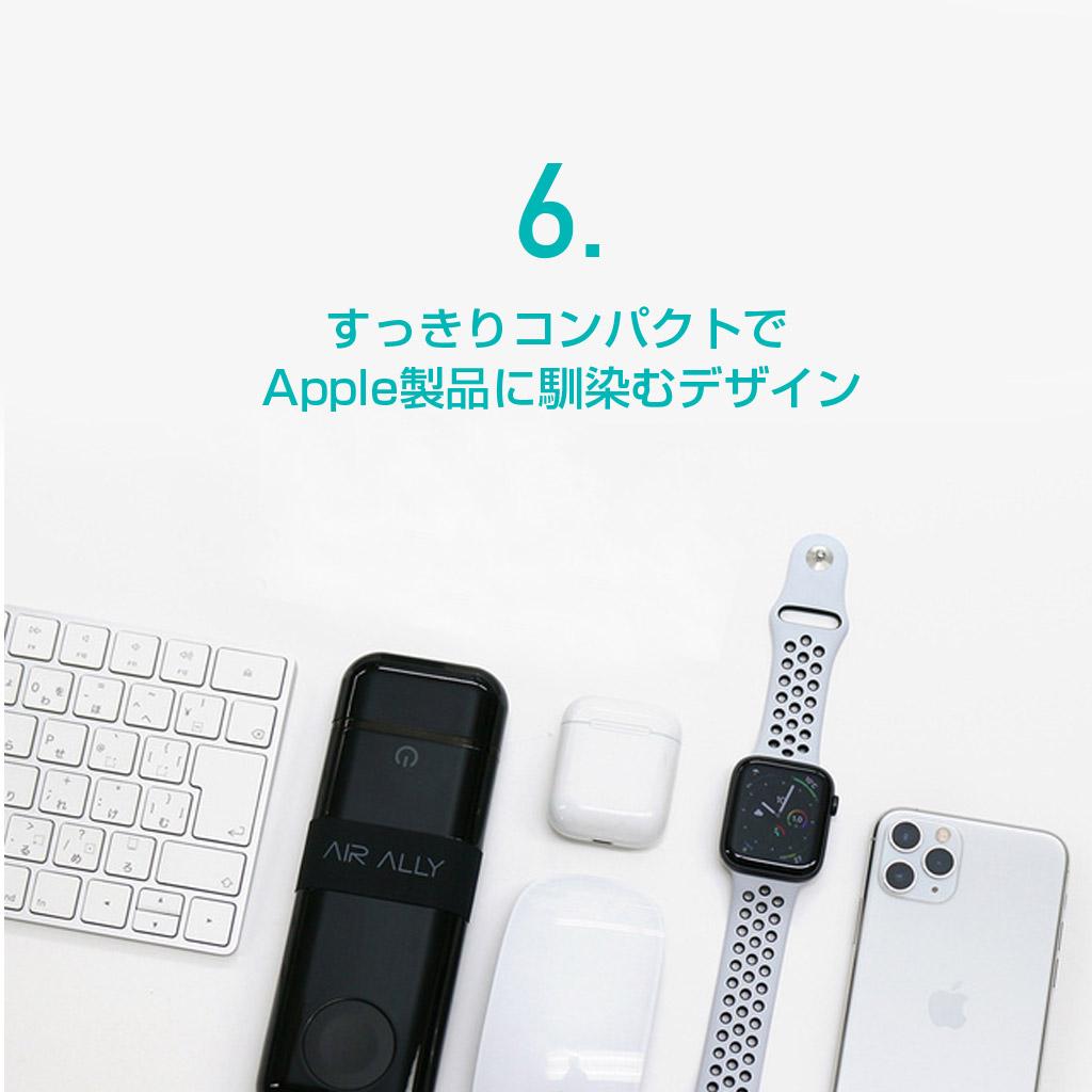 すっきりコンパクトでApple製品に馴染むデザイン