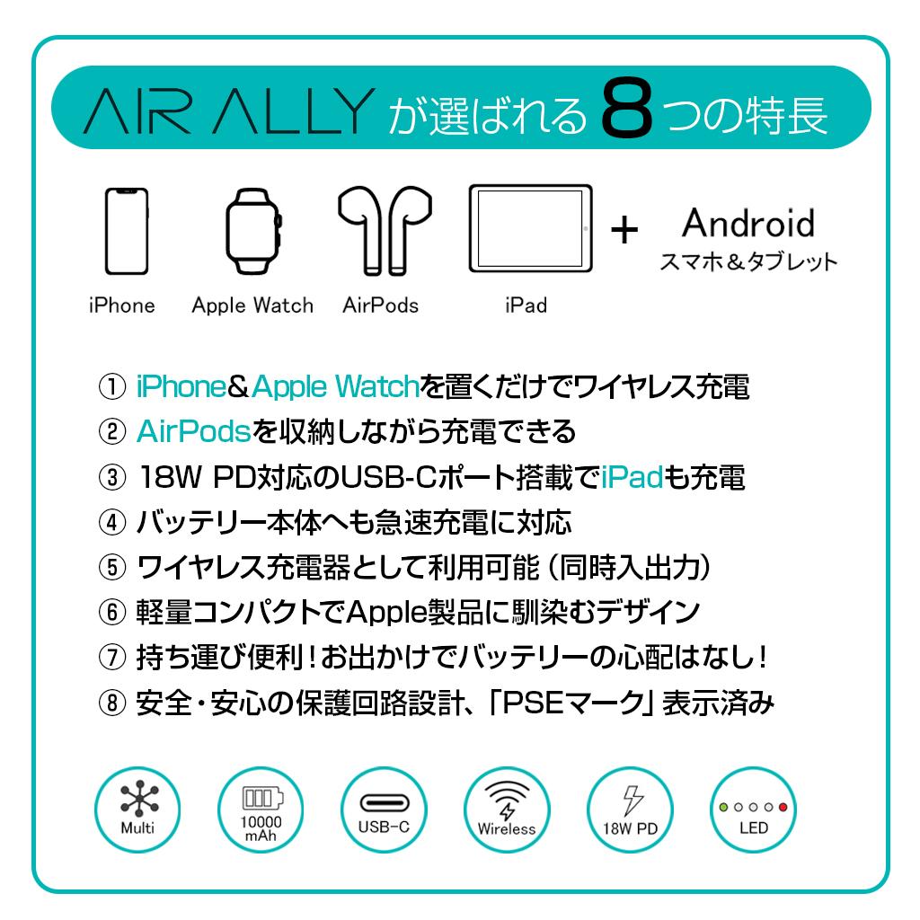 AirAllyの8つの特徴