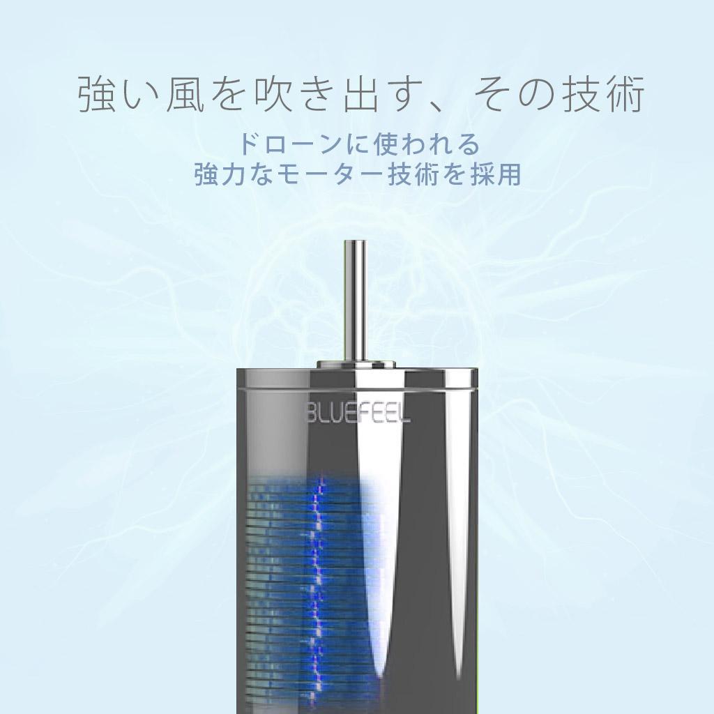 超小型ヘッドポータブル扇風機BLUEFEEL PRO(ブルーフィールプロ)の強い風を吹き出す、その技術