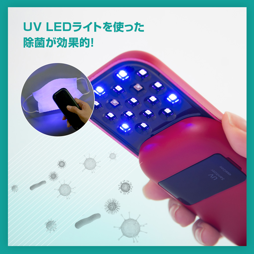 強力な13個のUV LEDを搭載