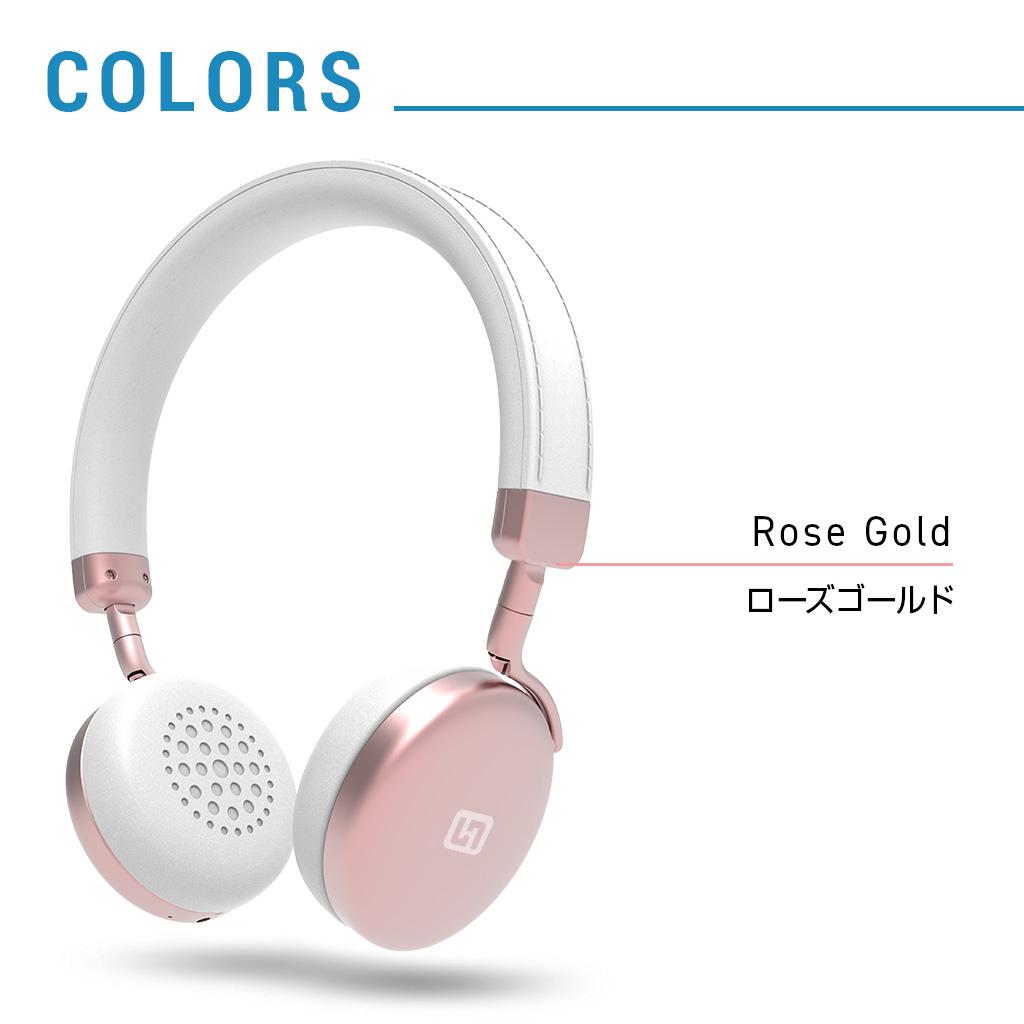 Bluetoothヘッドフォン TURBO2 ローズゴールド