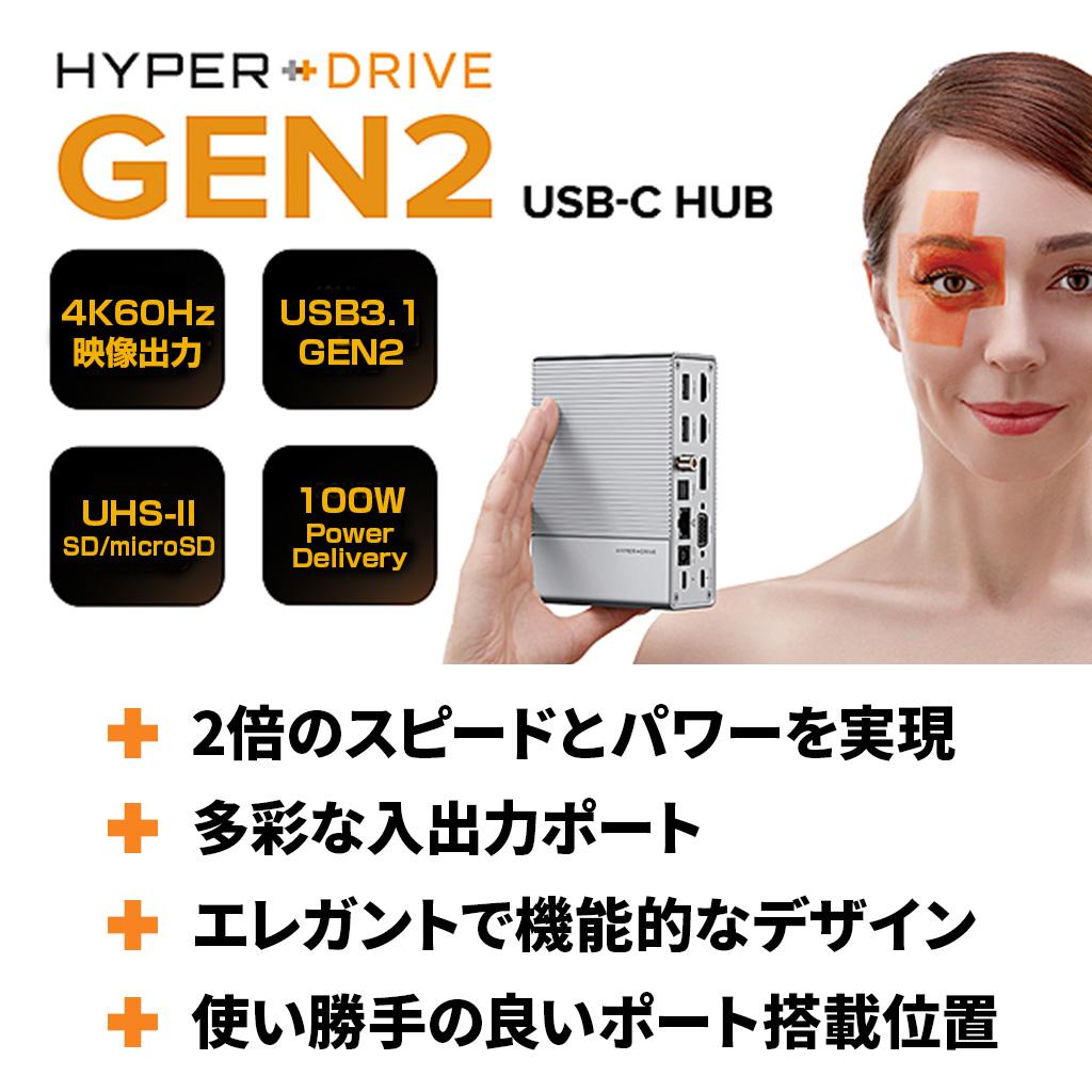 HyperDrive GEN2は、MacやWindowsなど最大限に拡張します