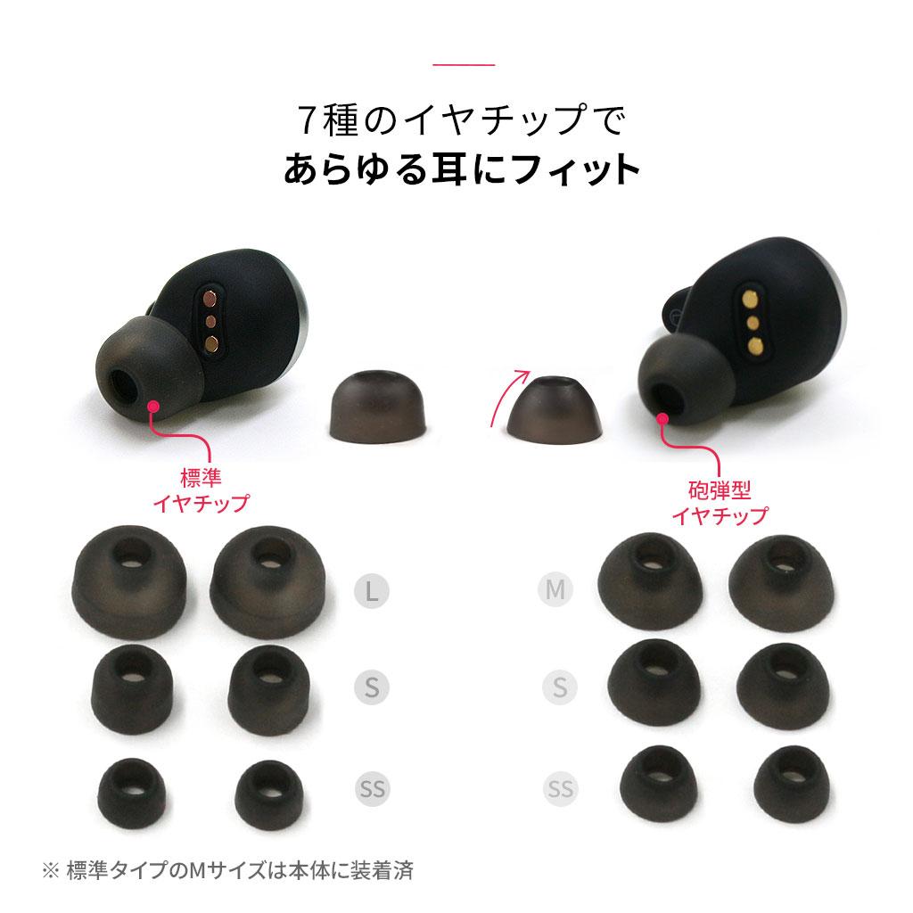 コンパクトなサイズのイヤホン、片耳わずか4.8g