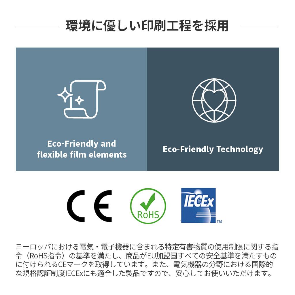 国際的な規格認証制度IECExにも適合