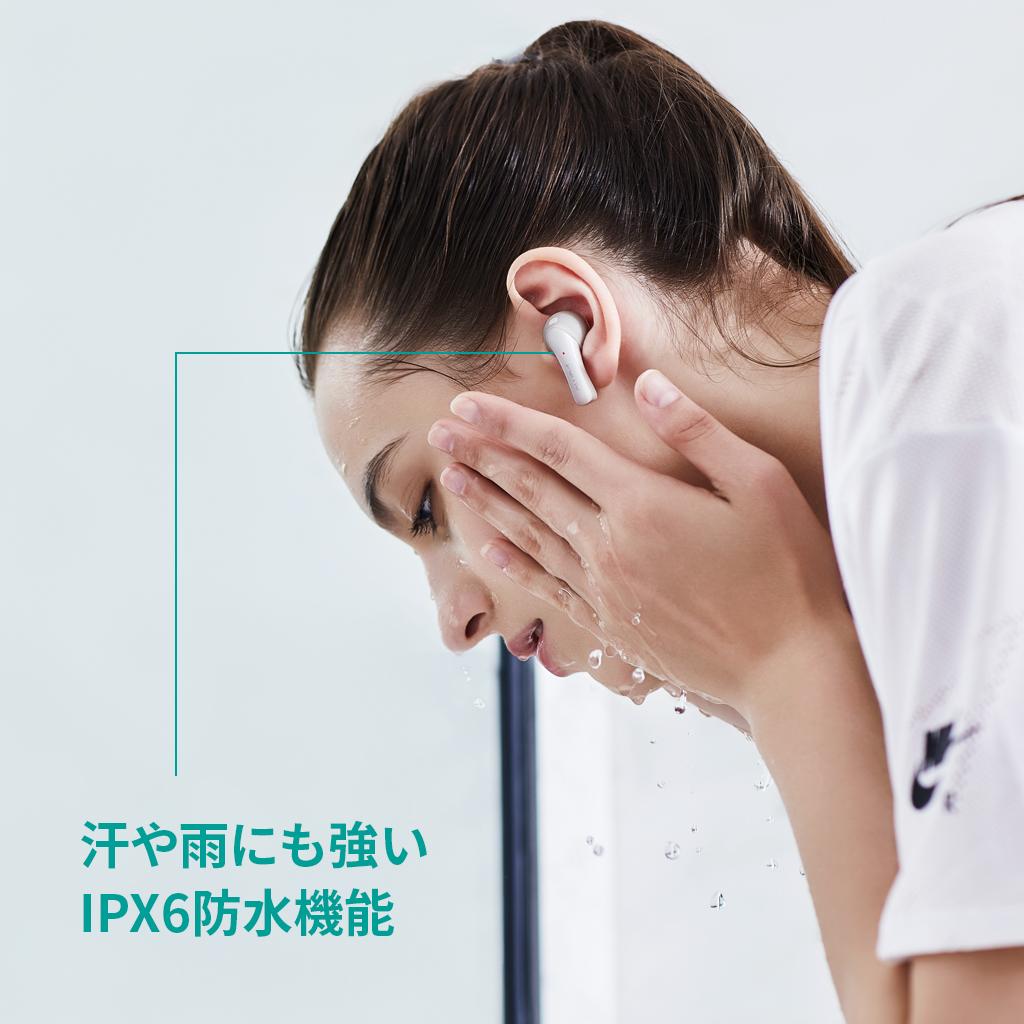 汗や雨に強いIPX6防水機能