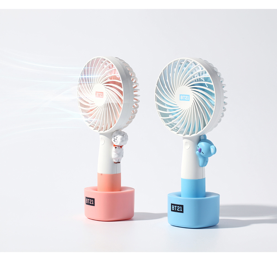 BT21 MINI HANDY FAN LED 携帯扇風機