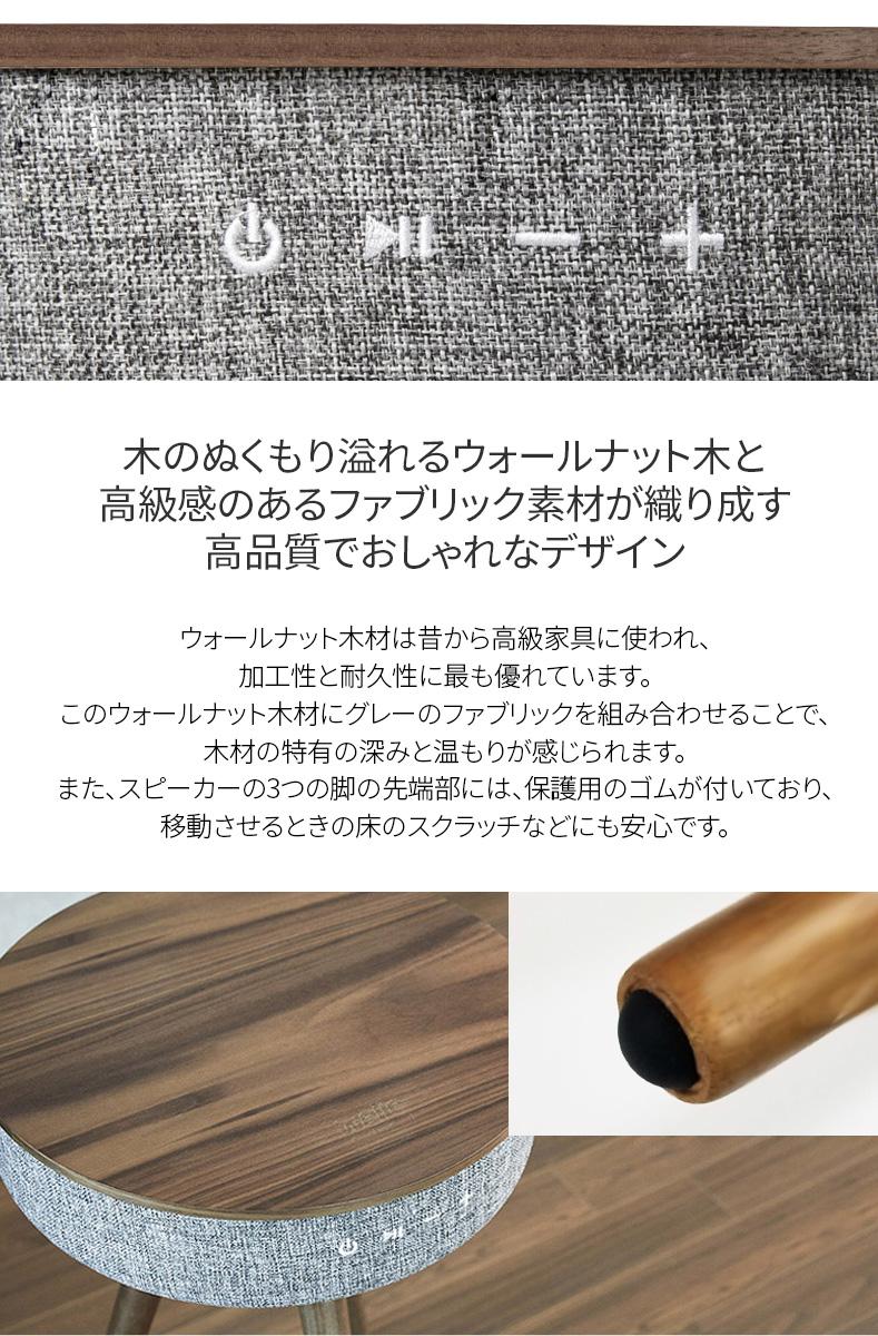 木のぬくもり溢れるウォールナット木と高級感のあるファブリック素材