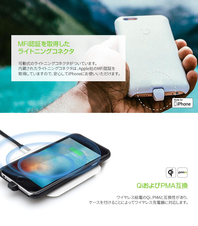 ワイヤレス充電対応iPhoneケース