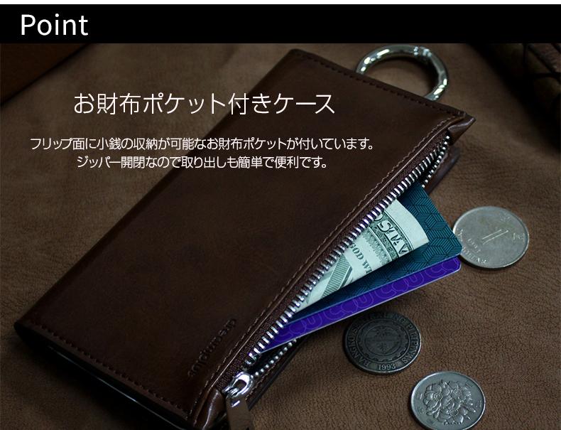 小銭の収納が可能なお財布ポケット付き