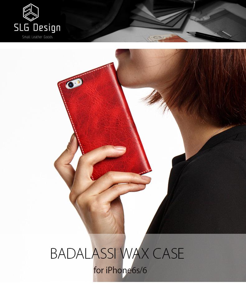 254d1c7bd0 SLG Design Badalassi Wax case おしゃれ iPhone6s 人気 アイフォン6s 緑 本革 スマホケース かわいい 通販