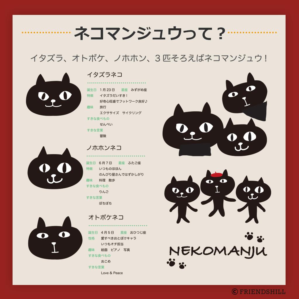 ユニークな「ネコマンジュウ」のライセンスデザイン