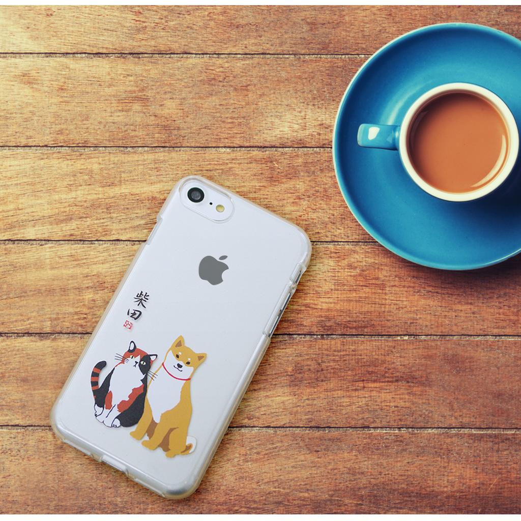iPhone8/7 しばたさんクリアケース おすわり