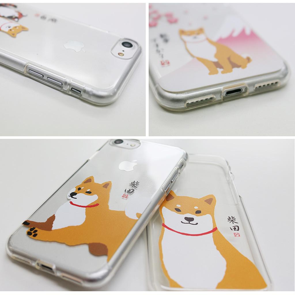 iPhone8/7 しばたさんクリアケース ジャンプ