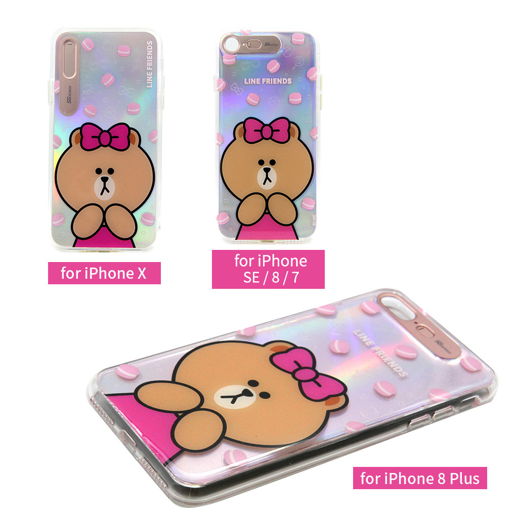 LINE FRIENDS LIGHT UP CASE チョコマカロン