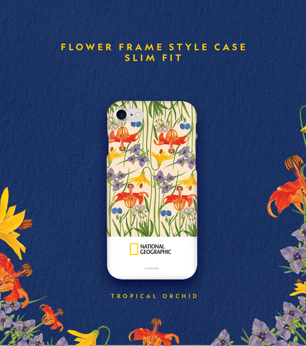 National Geographic Flower Frame Style Case Slim Fit(ナショナル ジオグラフィック フラワーフレームスタイルケース スリムフィット)