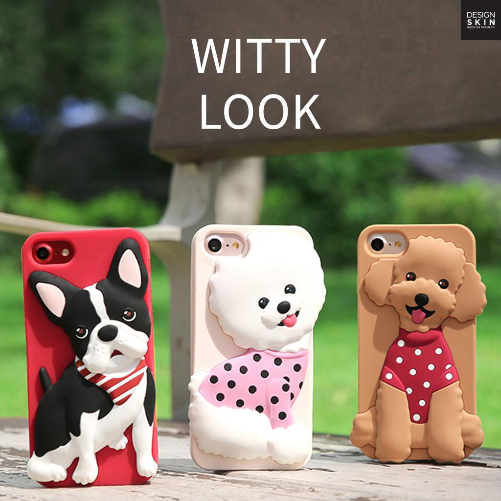 iPhone X ケース iPhone8 ケース iPhone7 ケース Design Skin WITTY LOOK