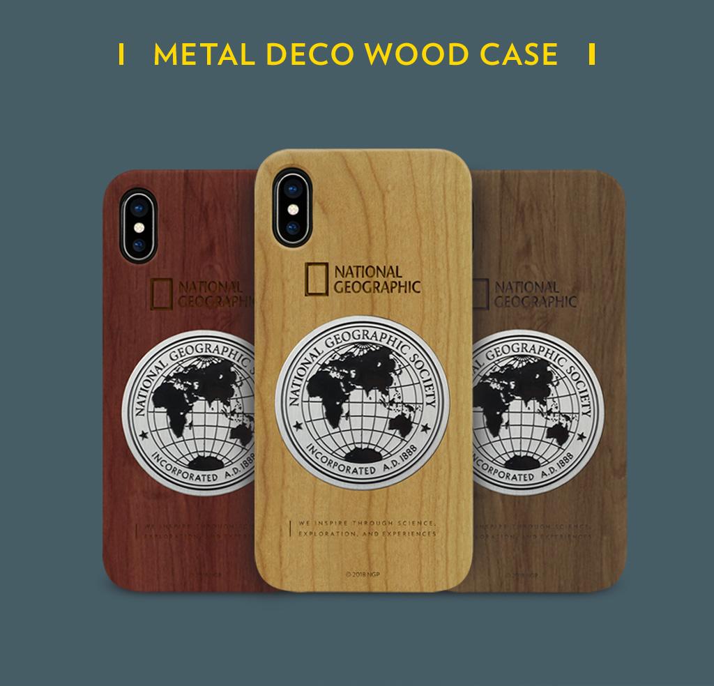 National Geographic Metal-Deco Wood Case(ナショナル ジオグラフィック メタルデコウッドケース)