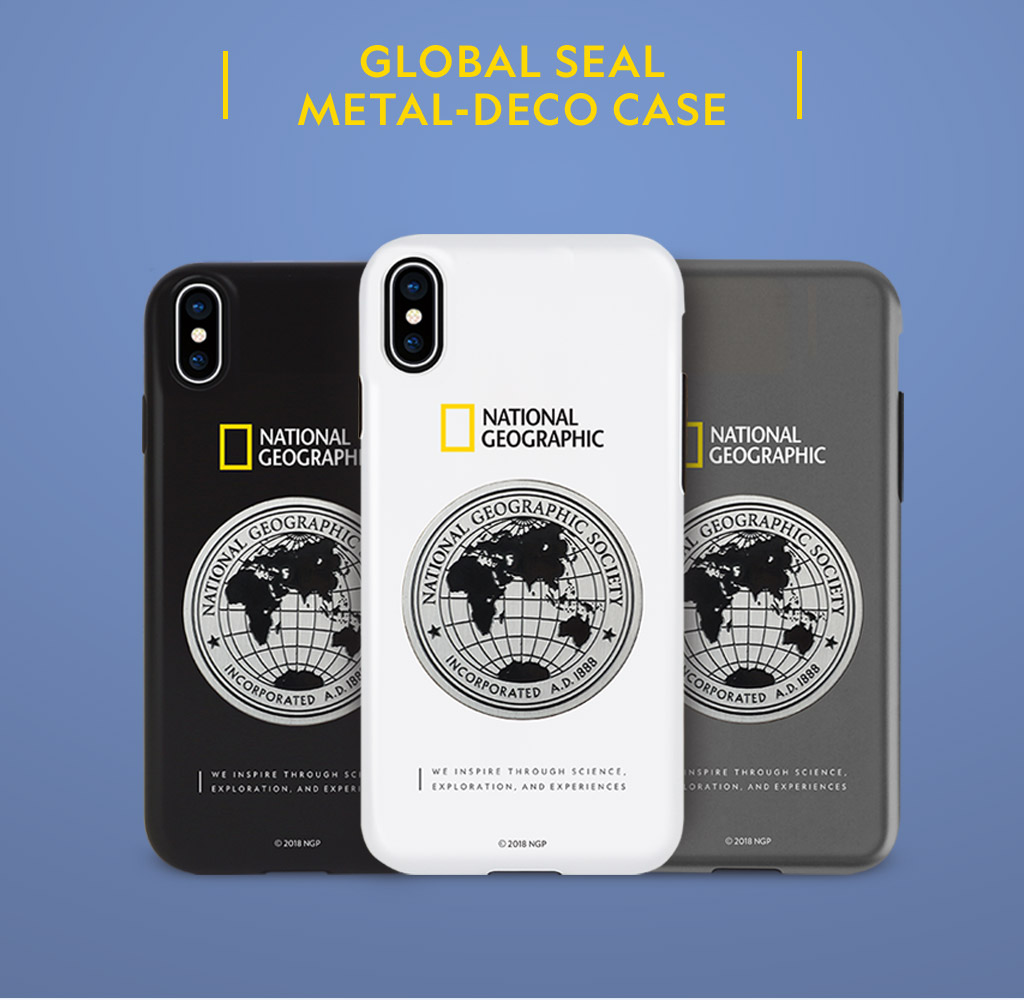 National Geographic Global Seal Metal-Deco Case(ナショナル ジオグラフィック グローバルシールメタルデコケース)