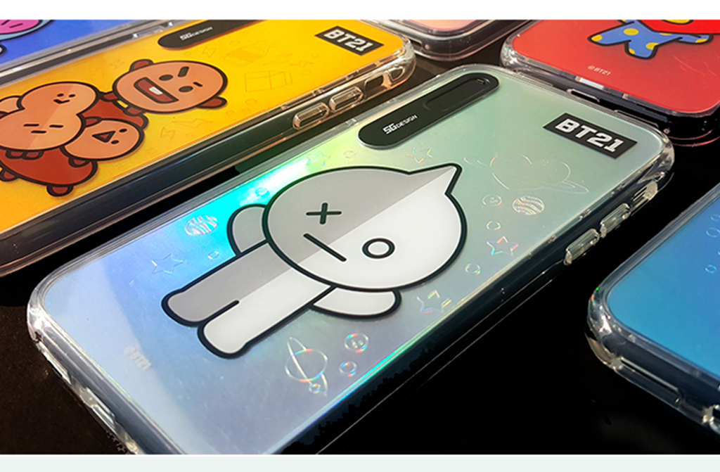 iPhone X BT21 GRAPHIC LIGHT UP CASE TATA