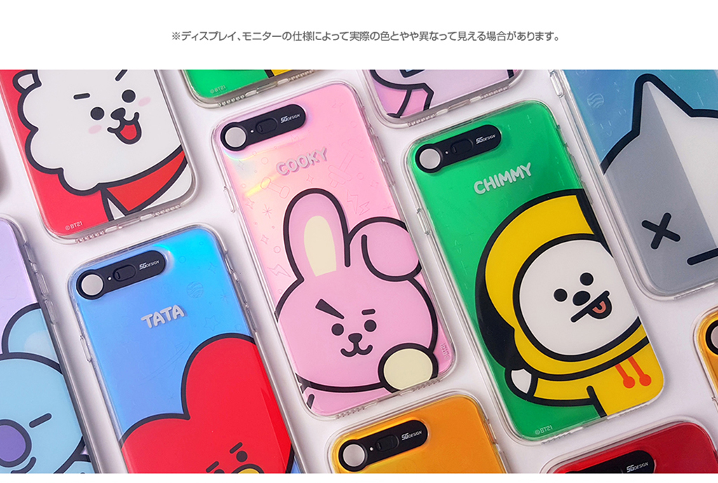 iPhone X BT21 GRAPHIC LIGHT UP CASE FACE COOKY