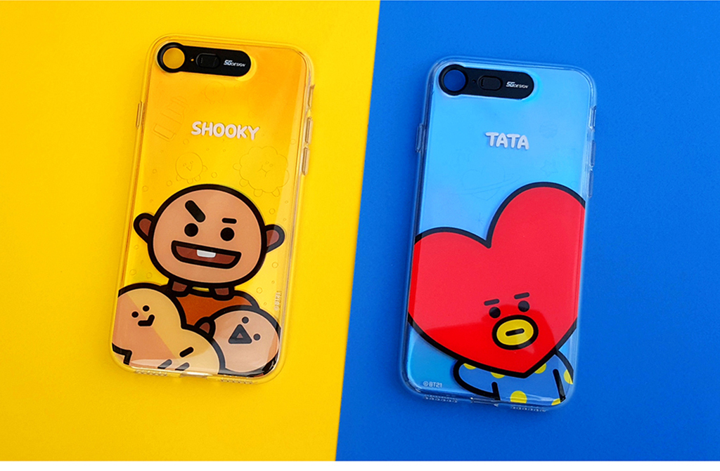 iPhone X BT21 GRAPHIC LIGHT UP CASE FACE TATA