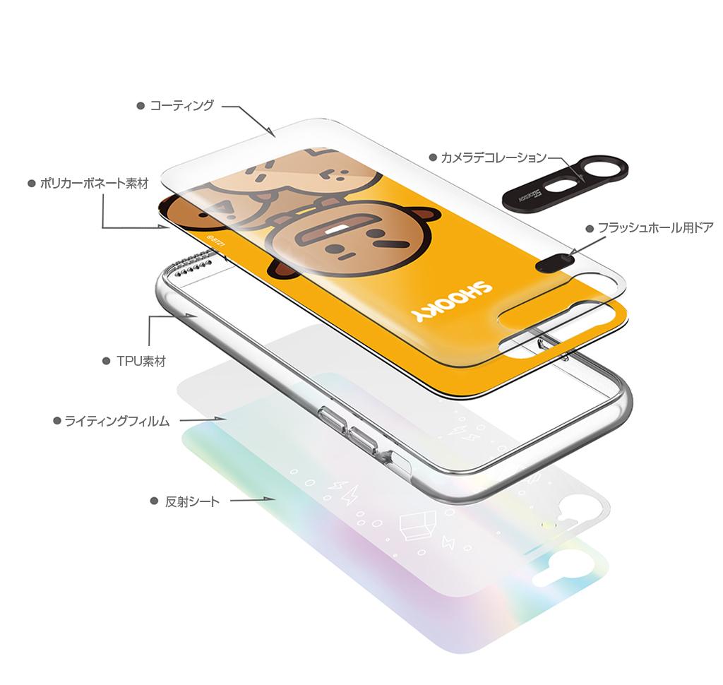 iPhone X BT21 GRAPHIC LIGHT UP CASE FACE VAN