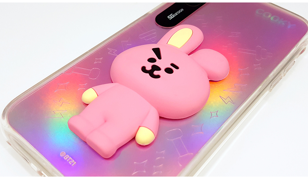 iPhone X BT21 LIGHT UP SILICON CASE COOKY