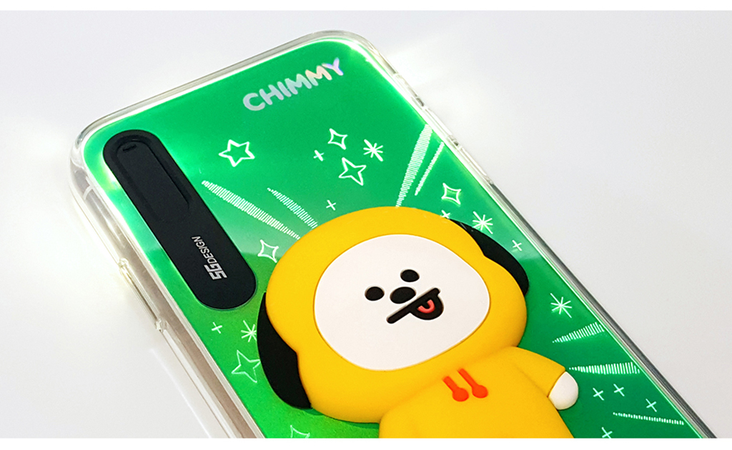 iPhone X BT21 LIGHT UP SILICON CASE TATA