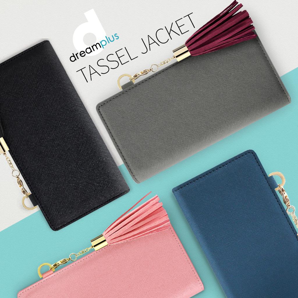 dreamplus(ドリームプラス)の「タッセルジャケット」は、おしゃれなタッセルが前面に装飾された女性らしい手帳型ケース