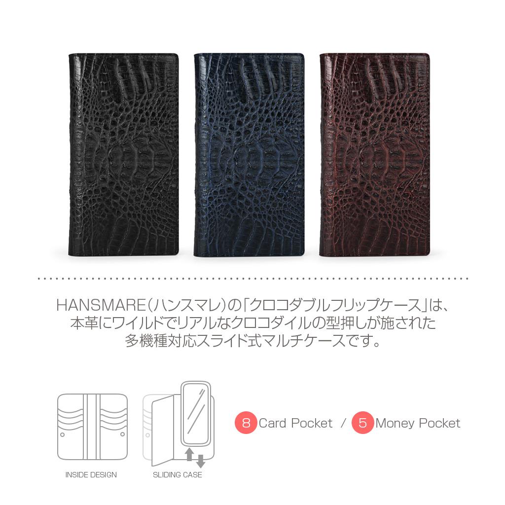 HANSMARE CROCO DOUBLE FLIP CASE